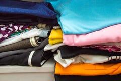 Stacked clothes Stock Photos