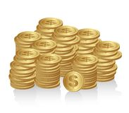 Stacked coins Stock Images
