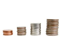 Stacked coins Royalty Free Stock Photo