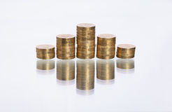 Stacked coins Royalty Free Stock Photography