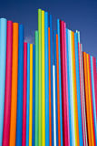 Stacked Color Bars. Pattern of multi-colored bars against blue sky stock photography