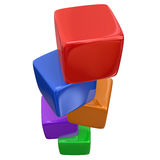 Stacked Color Cubes Boxes Blocks Counting Basic Fundamentals Stock Photography
