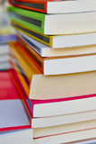 Stacked colored books. Educational and learning background. Scho Stock Photography