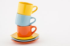 Stacked colored cups Stock Photography