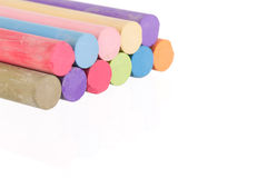 Stacked colorful chalk sticks Royalty Free Stock Photo