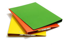 Stacked Colorful Folders Stock Image