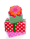 Stacked Colorful Gifts And Presents Royalty Free Stock Photography