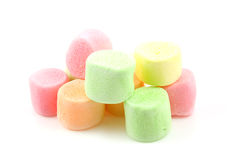 Stacked colorful marhmallows Royalty Free Stock Images