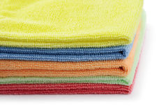 Stacked colorful microfiber cloths Royalty Free Stock Photography