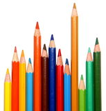 Stacked colorful pencils Royalty Free Stock Photography