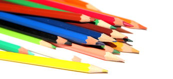Stacked colorful pencils Stock Photography