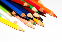 Stacked colorful pencils Royalty Free Stock Image