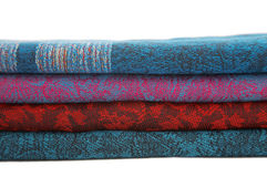 Stacked colorful scarf Stock Photo