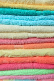 Stacked colorful towels Royalty Free Stock Image