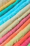 Stacked colorful towels Royalty Free Stock Photography