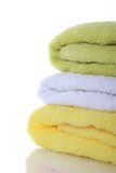 Stacked colorful towels Stock Image