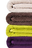 Stacked colorful towels Royalty Free Stock Photos
