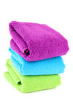 Stacked colorful towels Stock Images