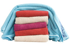 Stacked of colorful towels Stock Photography