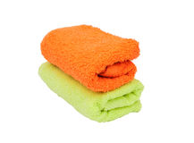 Stacked colorful towels Royalty Free Stock Photo