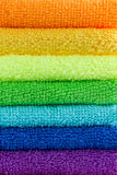 Stacked colorful towels Stock Photography