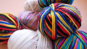 Colorful Yarn for Crochet. Stacked Colorful Yarn for Crochet Royalty Free Stock Photography