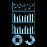 Stacked column pie graph hi tech Stock Photography