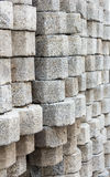 Stacked of concrete block background Royalty Free Stock Photography