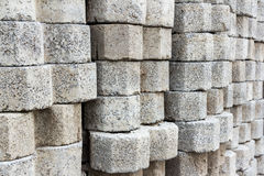 Stacked of concrete block background Stock Photos