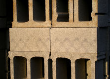 Stacked concrete blocks Stock Images