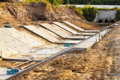 Stacked concrete drainage Stock Photo