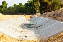 Stacked concrete drainage Royalty Free Stock Photo