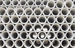Stacked concrete pipes abstract Stock Photography