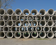 Stacked Concrete Pipes Royalty Free Stock Image