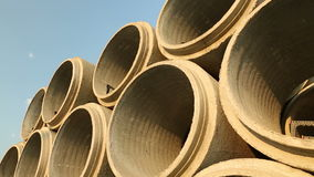 Stacked Concrete Sewer Pipe Royalty Free Stock Image