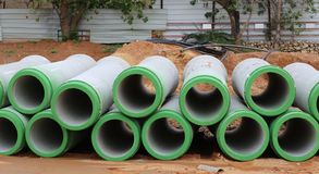 Concrete Pipes. Royalty Free Stock Photography