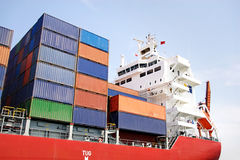 Stacked containers Royalty Free Stock Photos