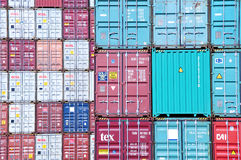 Stacked containers Stock Photography