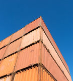 Stacked containers Royalty Free Stock Photography