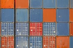 Stacked Containers Royalty Free Stock Image