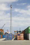 Stacked Containers In Stockyard Royalty Free Stock Photography