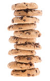 Stacked Cookies isolated on white Stock Photography
