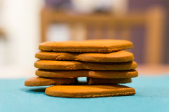 Stacked cookies Stock Images