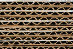 Stacked corrugated cardboard boxes macro Stock Photography