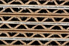 Stacked corrugated cardboard boxes macro Stock Photos