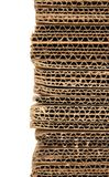 Stacked corrugated cardboard closeup Royalty Free Stock Images
