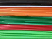 Stacked Corrugated Plastic Sheets royalty free stock images