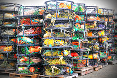 Stacked Crab Pots Royalty Free Stock Images
