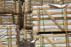 Stacked Crates of Building Materials Royalty Free Stock Image