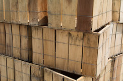 Stacked crates Royalty Free Stock Photos